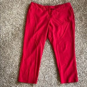 Worthington red modern fit ankle dress pants